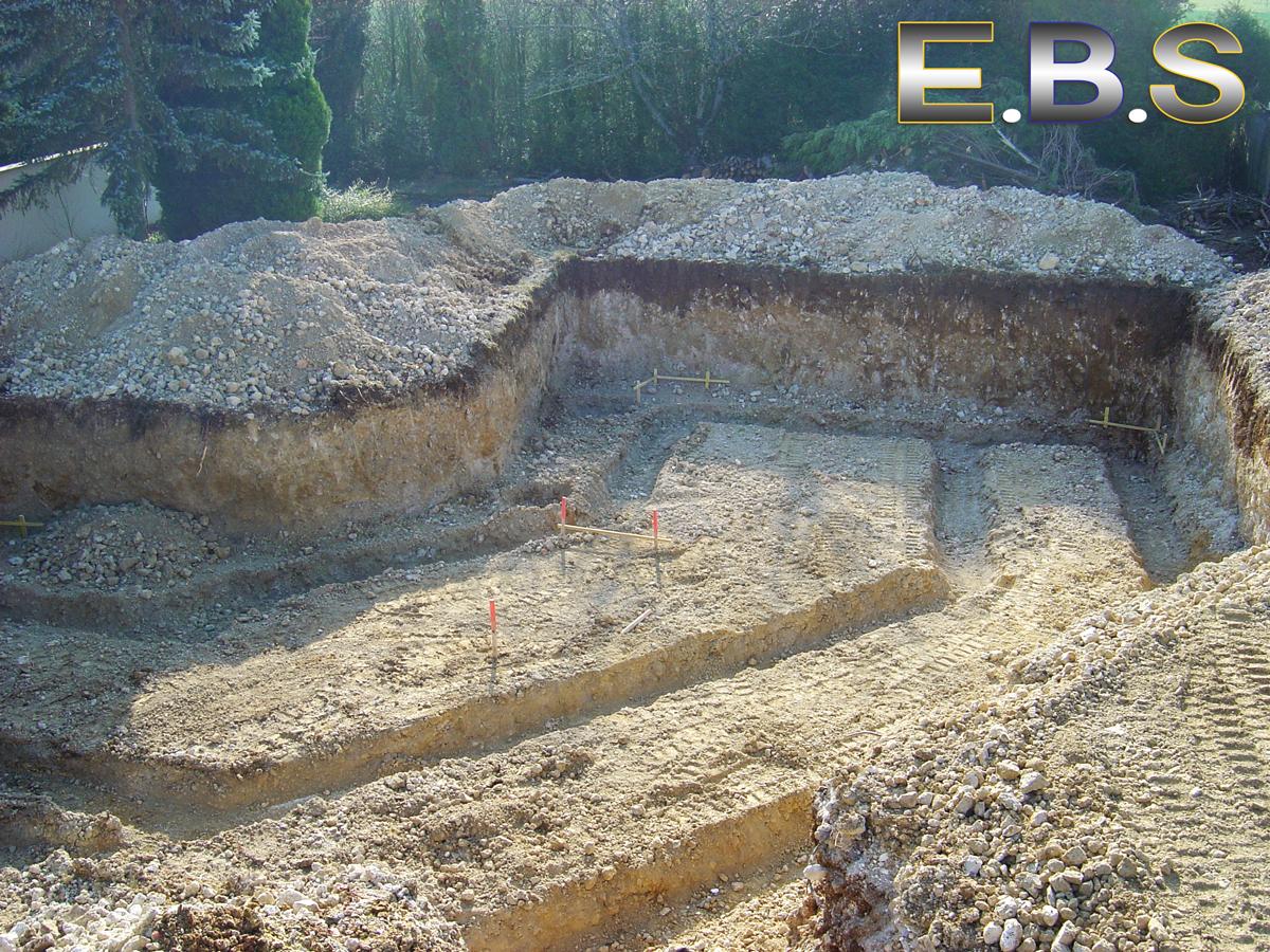 Fouilles de bâtiments réalisées par EBS Ormoy dans le 91