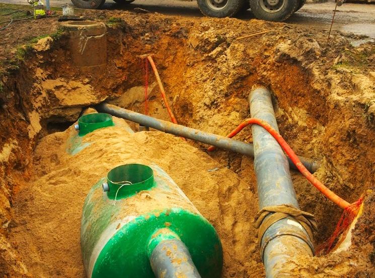 Installation pompe de relevage pour assainissement