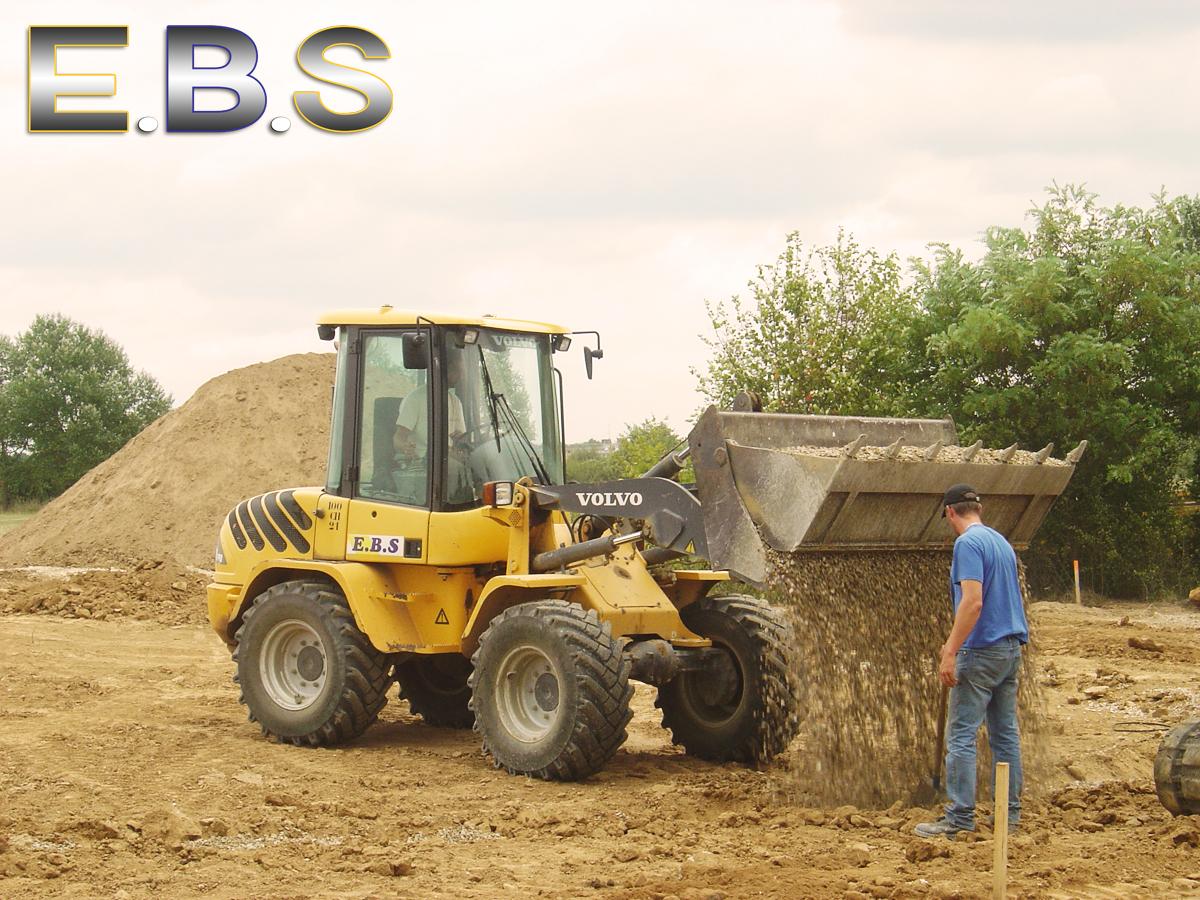 camion de chantier pour des travaux de terrassement