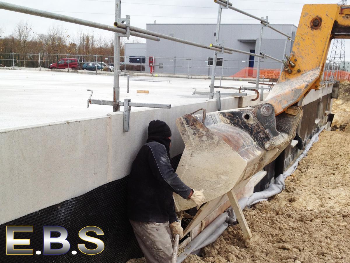 Chantier de drainage de terrains par EBS Ormoy essonnes