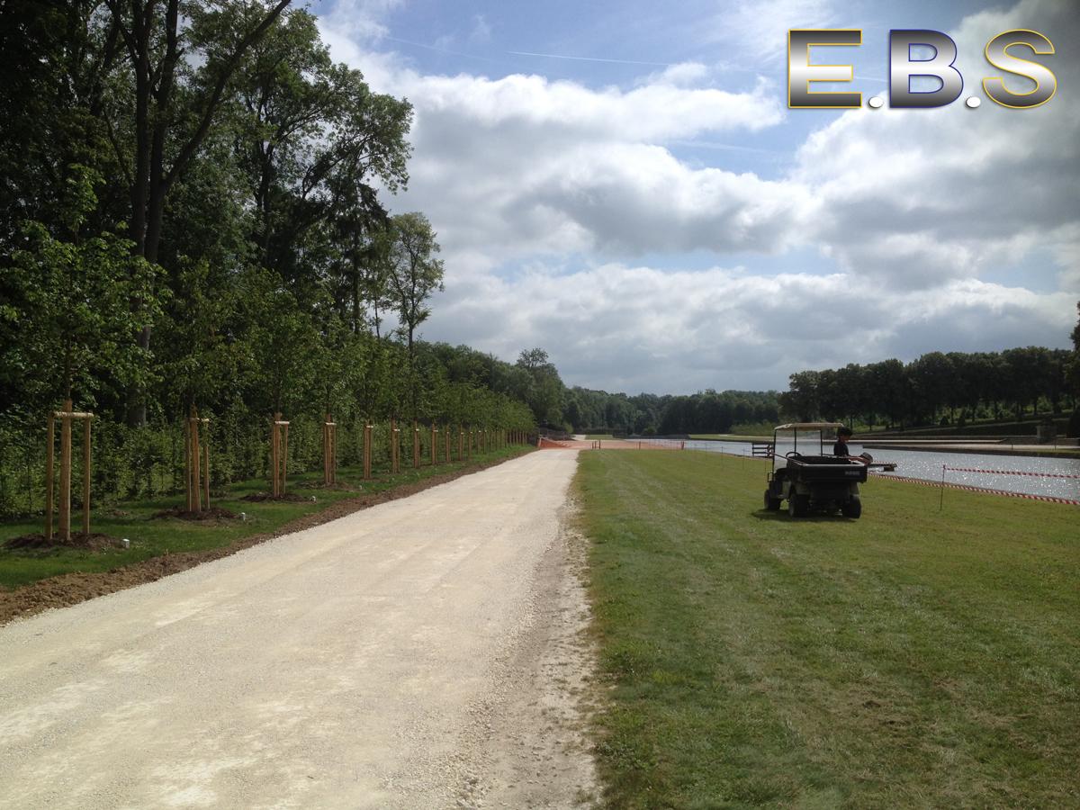 EBS réalise des voies d'accès en terrain stabilisé