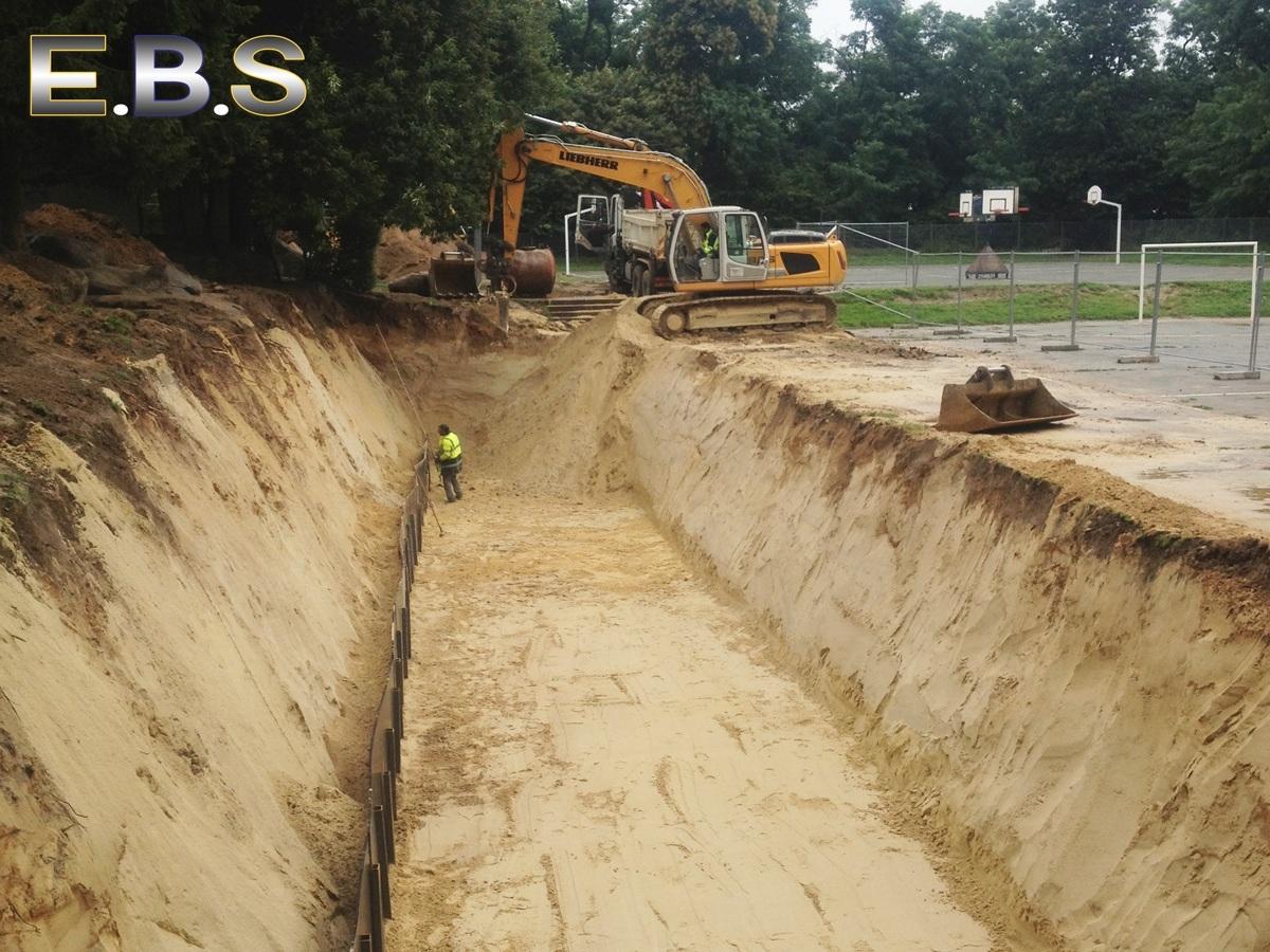 création de bassins de rétention par la société EBS Ormoy
